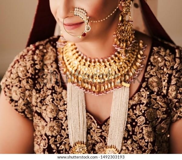 Pakistani Indian Bride Wearing Nose Ring Stock Photo Edit Now