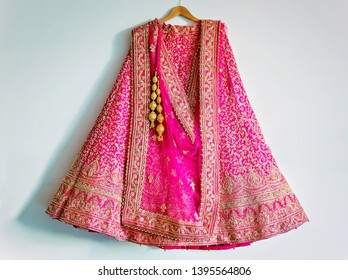 Pakistani Indian bride's lengha skirt embroidery design