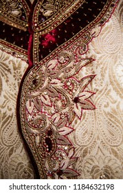 Pakistani Indian Groom embroidered sherwani design