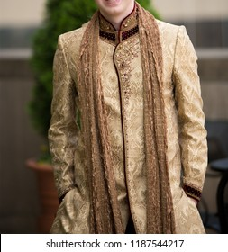 Pakistani Indian Groom showing Sharwani dress