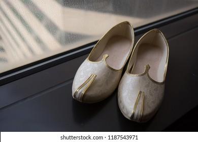 Pakistani Indian groom wedding Khussa Shoes shoes