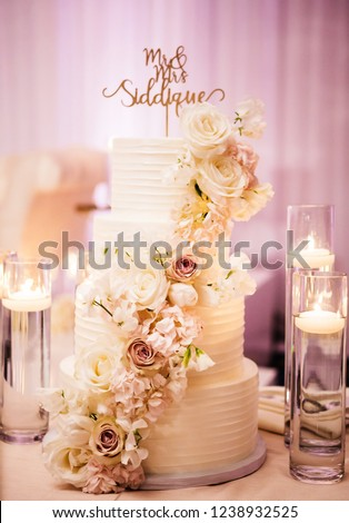 Pakistani Indian Wedding Cake Design Ideas Stock Photo Edit Now
