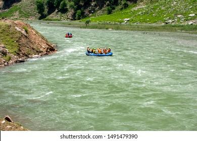 The Pakistani Lakes Mountain  Landscape & waterfall.