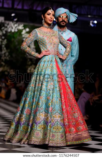 Pakistanlahore Models Presents Creation Pakistani Designer Beauty Fashion Stock Image 1176244507
