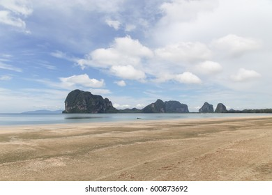 Pakmeng beach in Sikao of Trang, Thailand.