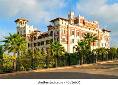 the palace in Alexandria, Egypt
