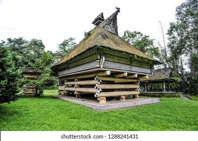 The palace of the Batak King in Sumatra, Indonesia. Batak stands for the ethnic group of people living in the northern part of Sumatra Island of Indonesia.