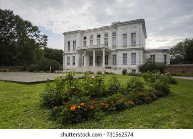 Palace - Bobrinsky Manor in the city of Bogoroditsk in summer