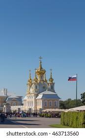 Palace church of Saint Peter and Paul in Peterhof, Saint-Petersburg, Russia