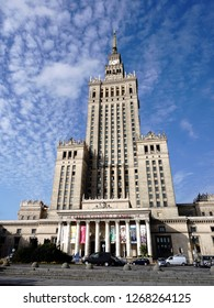 Palace of Culture and Science, a symbol of Warsaw and one of the most famous landmarks in Poland. September 2018, Warsaw, Poland