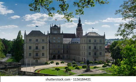 The palace of Ehrenburg, the former residence of Sachen-Coburg-Gotha dynasty, in Coburg, Germany