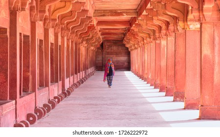 The Palace of Fatehpur Sikri, one of the most famous building by Mughal