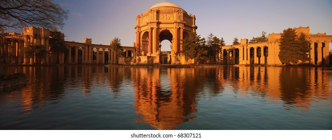 The Palace of Fine Arts is a monumental structure originally constructed for the 1915 Panama-Pacific Exposition in order to exhibit works of art presented there.