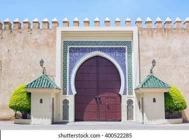 Palace gate in Fez, Morocco.
