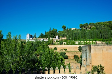 palace of Generalife in Alhambra, Granada, Spain