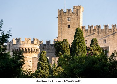The Palace of the Grand Master of the Knights of Rhodes, a medieval castle in the city of Rhodes, on the island of Rhodes in Greece