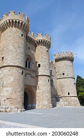 Palace of the Grand Master at Rhodes island in Greece. Main entrance