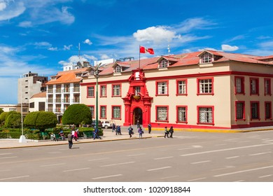 Palace of Justice or Palacio de Justicia near the Plaza de Armas in Puno city, Peru