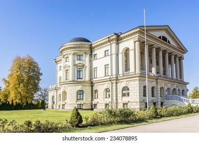 Palace of Kirill Razumovsky (1803, architect Charles Cameron) located in historic Baturyn town - is a part of monumental complex Hetmans' Capital. Chernihiv province, Baturyn, Ukraine.