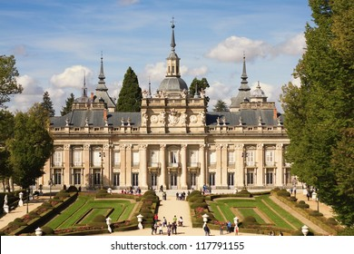 Palace of La Granja de San Ildefonso Eighteenth century royal palace created by Philip V of Spain. Surrounded by gardens in the province of Segovia, Spain.