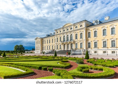 Rundāle Palace, Latvia - June 20th 2018 - The amazing Rundāle Palace with a beautiful garden, just one hour drive from the capital Riga in Latvia