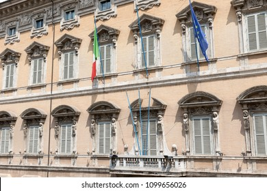 Palace Madama. Seat of the Senate of the Italian Parliament.  Rome, Italy.