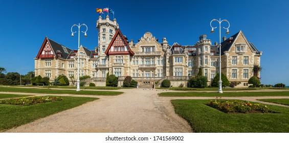 Palace Magdalena  in Santander, Cantabria, North Spain