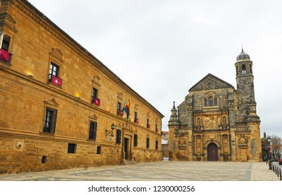Palace of the Marquis of Mancera and Chapel of the Divine Savior (Capilla del Divino Salvador)  in Ubeda. Renaissance city in the province of Jaén. World heritage site by Unesco. Andalusia, Spain