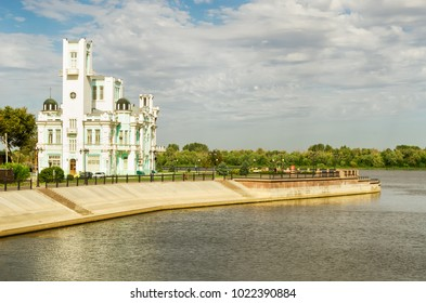 The palace of marriage or the central registry office of the city of Astrakhan. A unique building of the XIX century on the embankment of the Volga River.