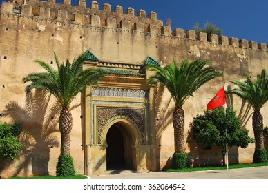The palace in Meknes, Morocco
