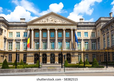 Palace of the Nation in Brussels (French: Palais de la Nation; Dutch: Paleis der Natie) - seat of the Belgian Federal Parliament