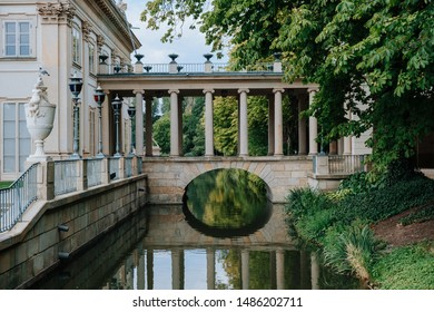 Palace on the water in Lazienki park (Royal Baths park) on Warsaw, Poland