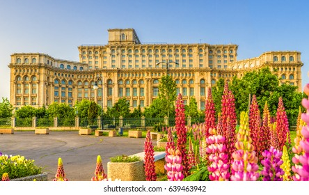 The Palace of the Parliament, Bucharest, Romania.