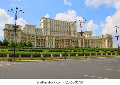 The Palace of the Parliament, Bucharest, Romania.The second largest building in the world, built by Ceausescu