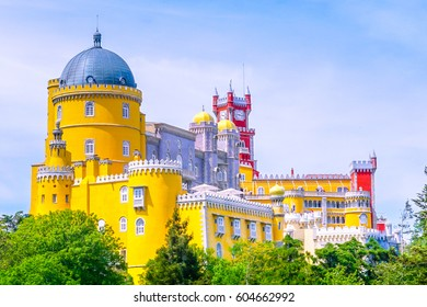 Palace of Pena, Sintra / beautiful castle in Portugal