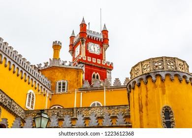 Palace of Pena in Sintra, famous landmark, Sintra, Lisbon, Portugal,