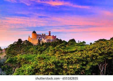 The Palace of Pena. Sintra, Portugal