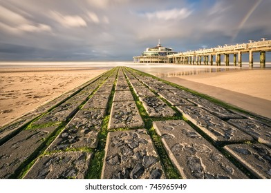 The palace pier at Blankberge (Belgium) on the fascinating north sea
