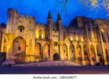 Palace of the Popes in Avignon in Provence, France