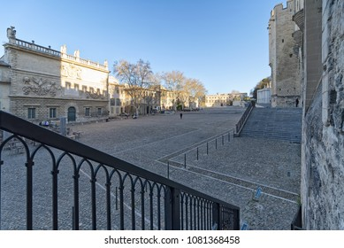 Palace of the Popes and Cathedral of Avignon - Camargue - Provence - France