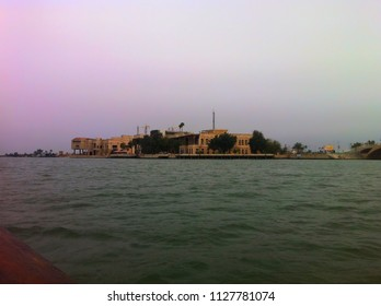 The palace of Saddam Hussein is near by Shatt Al-Arab River, Basra, Iraq.