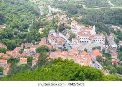 Palace of Sintra, Sintra City View and vegetation, Portugal