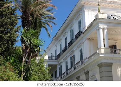 A palace of Sisi princess. Corfu island, Greece