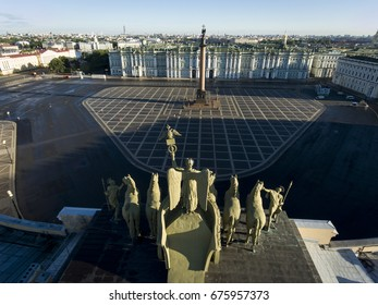 Palace Square from a bird's-eye view. Saint Petersburg. Russia.