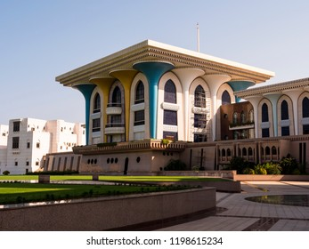 The palace of Sultan Quaboos in Muscat, the capital of the beautiful Sultanate of Oman.