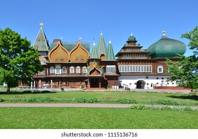Palace of the tsar Alexey Mikhailovich (a historical reconstruction). Park Kolomenskoe, Moscow, Russia
