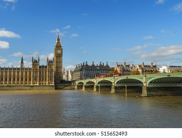 The Palace of Westminster and Big Ben at sunny day, London, England, UK