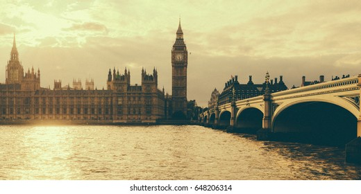 The Palace of Westminster and Westminster Bridge, London, England, United Kingdom.