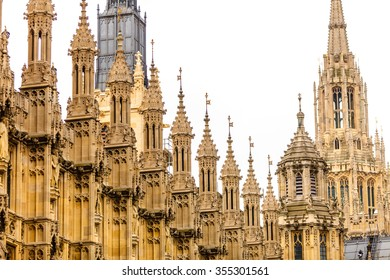 Palace of Westminster, House of Parliament in London England UK