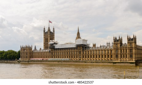 Palace of Westminster,  house of the Parliament of the United Kingdom. London, England. UNESCO world Heritage